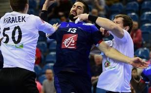Nikola Karabatic lors du match France-Biélorussie, le 21 janvier 2016.