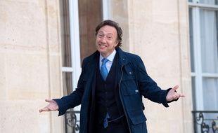 Stéphane Bern arrive à L'Elysée, le 4 octobre 2017.