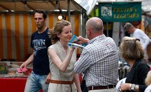 Nathalie Kosciusko-Morizet, candidate LR aux législatives à Paris, a perdu connaissance plusieurs minutes, le 15 juin 2017, après une altercation avec un passant.