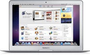 La Mac App Store, sur un Macbook Air