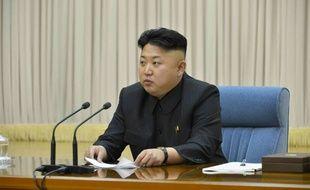 Le président nord-coréen Kim Jong Un, lors d'une réunion le 17 mars 2014