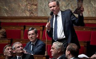 Le député de la 8e circonscription de l'Essonne Nicolas Dupont-Aignan à l'Assemblée nationale. (Illustration)