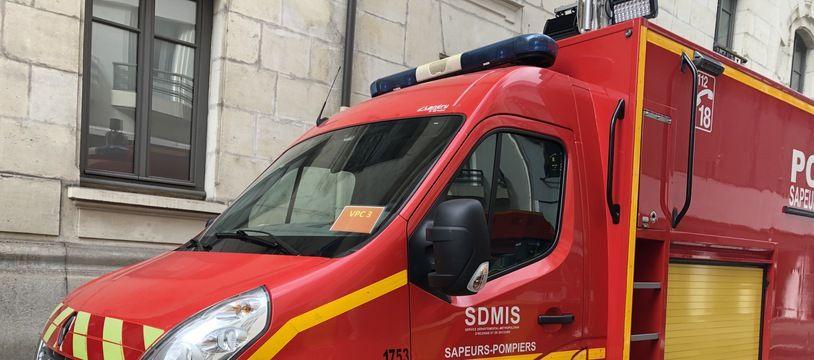 Illustration d'un véhicule d'intervention des pompiers du Rhône.
