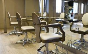 Un salon de coiffure. Illustration.