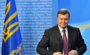 L'ancien président ukrainien Viktor Ianoukovitch lors d'une conférence de presse à Kiev le 1er mars 2013.