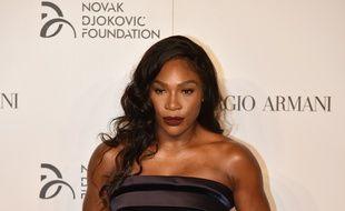Serena Williams lors d'un gala caritatif à Milan, le 20 septembre 2016.