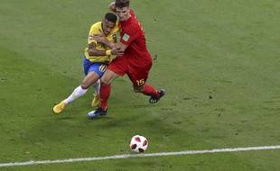 Thomas Meunier face au Brésil.