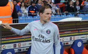 Thomas Tuchel, quelques instants avant le début de la rencontre à Montpellier.