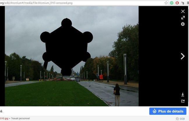 Photo sur la page Wikipedia de l'Atomium de Bruxelles.