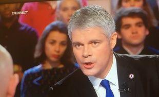 Laurent Wauquiez, président du parti Les Républicains, le 25 janvier 2018 sur la plateau de «l'Emission politique» sur France 2.