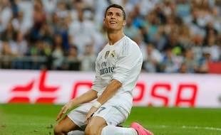 Cristiano Ronaldo lors de Real Madrid-Malaga, le 26 septembre 2015.