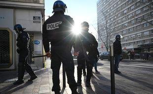 Des policiers à Mulhouse le 10 décembre 2018.