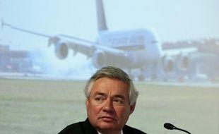 Le directeur commercial d'Airbus John Leahy, en février 2010.