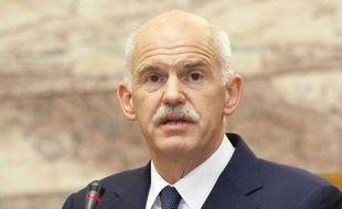 Georges Papandréou au Parlement grec, le 3 novembre 2011.