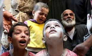 Au total, 240 millions d'enfants vivent dans des pays en guerre, comme ici en Syrie.