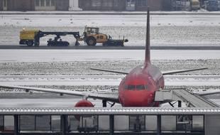 L'aéroport de Bruxelles sous la neige, le 11 décembre 2017.