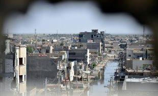 Vue de Ramadi, le 24 juin 2014 dans la province irakienne d'Anbar