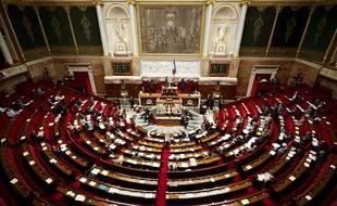 Une vue générale de l'hémicycle de l'Assemblée nationale.
