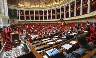 L'assemblée nationale, pendant les débats sur la moralisation de la vie publique.