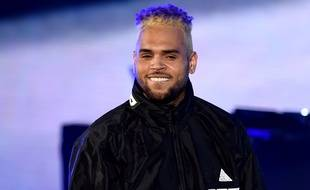 Chris Brown, le 20 octobre 2018, en concert à Los Angeles.