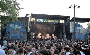 Le concert organisé par Ricard place Denfert Rochereau à l'occasion de la fête de la musique