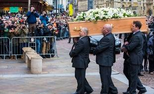 Les obsèques de l'astrophysicien Stephen Hawking, à Cambridge, samedi 31 mars.