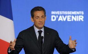 Nicolas Sarkozy lors d'une conférence de presse le 27 juin 2011, à Paris.