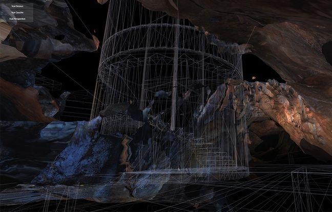 Une vue en perspective de la grotte implantée dans la villa Méditerranée.