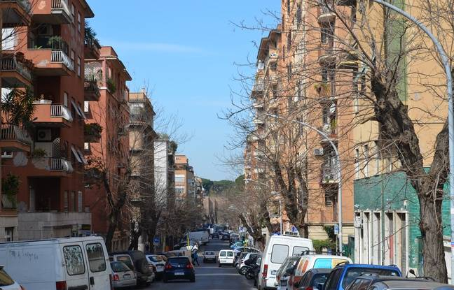 La via Vetulonia, dans laquelle a grandi Francesco Totti, dans le quartier de San Giovanni.