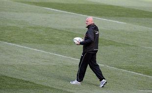 Bernard Laporte, sur la pelouse de l'Aviva stadium à Dublin, le 17 mai 2013.