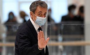 Paris, le 23 novembre 2020. Nicolas Sarkozy à son arrivée au tribunal où il est jugé pour
