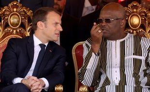 Emmanuel Macron et le président burkinabé, Roch Marc Christian Kabore, le 29 novembre 2018.