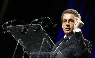 Nicolas Sarkozy à Rillieux-la-Pape le 22 mai 2015.