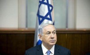 Le Premier ministre israélien Benjamin Netanyahou, le 4 janvier 2015 lors du conseil des ministres à Jérusalem