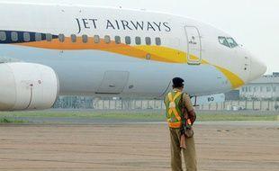 Un avion de Jet Airways sur le tarmac de l'aéroport de New Delhi le 12 septembre 2012.