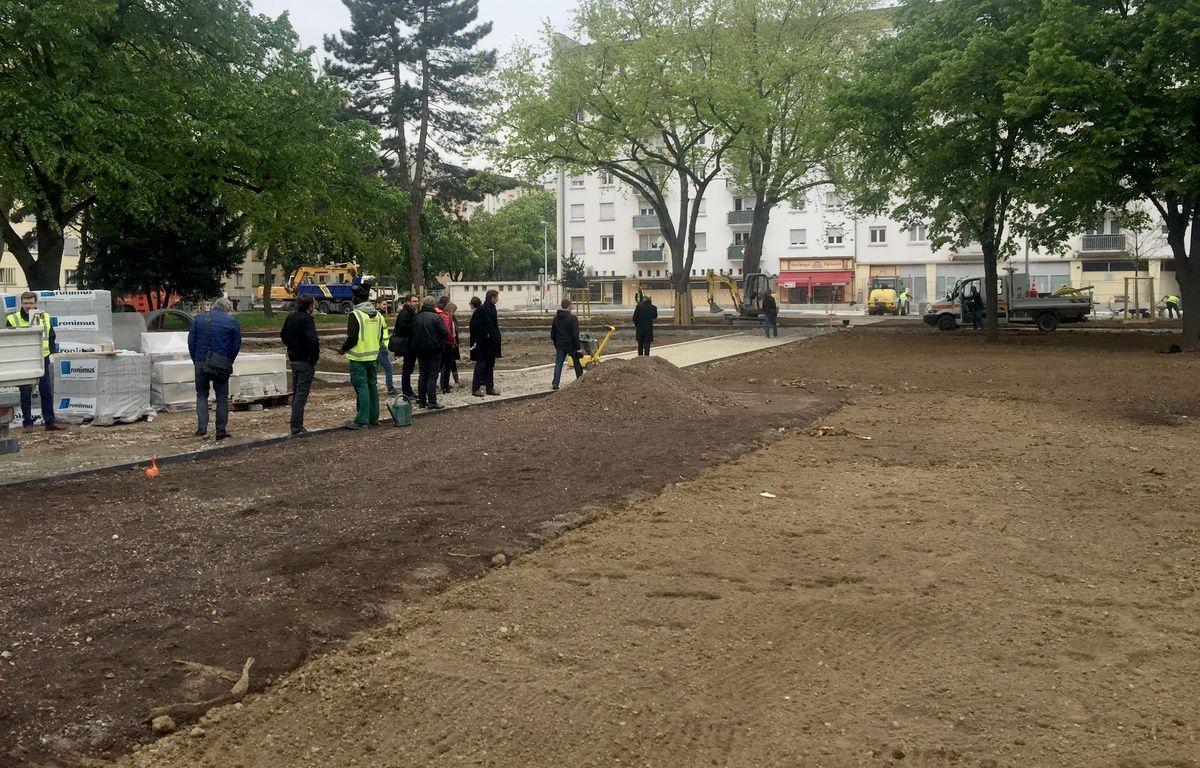 Chantier du parc Ile de France à la Meinau. Strasbourg le 27 avril 2017. – G. Varela / 20 Minutes
