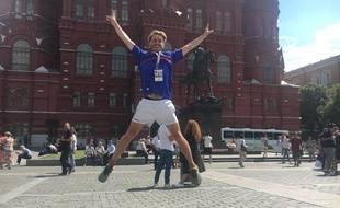 Rémi sur la Place Rouge de Moscou.