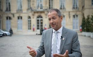 Pascal Pavageau, secrétaire général de Force ouvrière, le 30 août 2018 à Matignon.