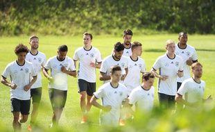 L'équipe d'Allemagne prépare l'Euro 2016, à Ascone, en Suisse.