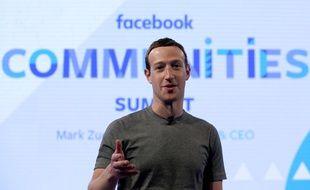 Mark Zuckerberg au Facebook Communities Summit, le 21 juin 2017 à Chicago.