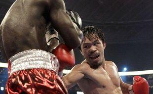 Le boxeur philippin Manny Pacquiao lors de son combat à Dallas contre le Ghanéen Joshua Clottey, le 14 mars 2010.