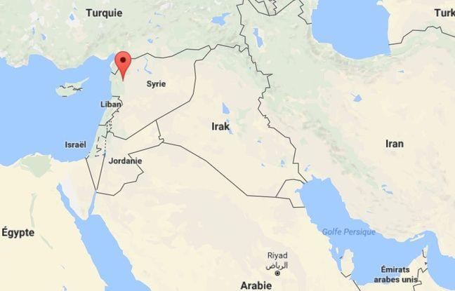 Googlemap de Khan Cheikhoun, ville du nord-ouest de la Syrie qui a subi une attaque chimique mardi 4 avril 2017.