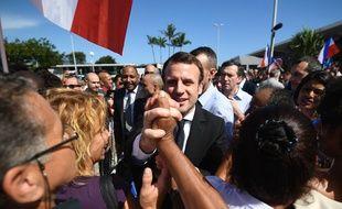 Emmanuel Macron à son arrivée à la Réunion, le 25 mars 2017.
