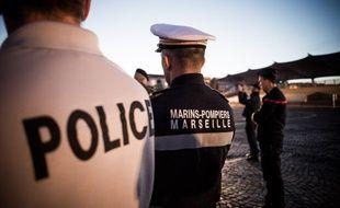 Des marins-pompiers de Marseille (illustration).