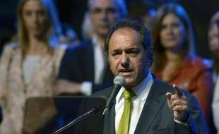 Le gouverneur de la province de Buenos Aires, Daniel Scioli, le 24 octobre 2013 dans la capitale argentine