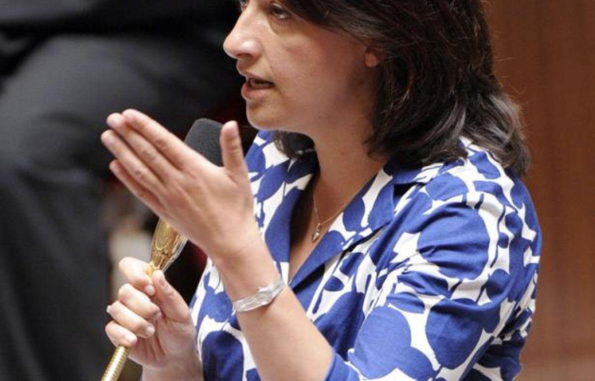 """La ministre du Logement Cécile Duflot a été """"étonnée"""" des exclamations qui l'ont accueillie mardi à l'Assemblée nationale sur certains bancs de la droite parce qu'elle portait une robe, a-t-elle déclaré jeudi. – Bertrand Guay afp.com"""