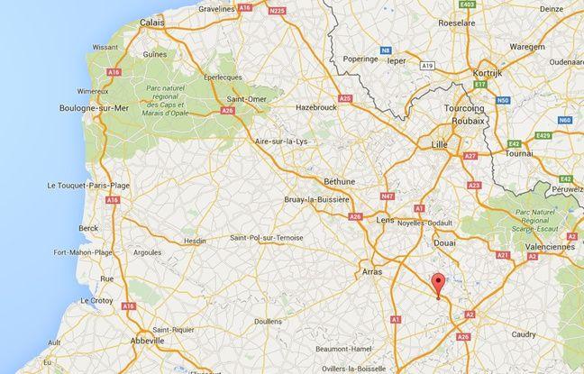 Localisation de Baralle, dans le Pas-de-Calais