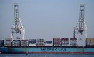 Un navire de la compagnie Maersk dans le port d'Oakland aux Etats-Unis, le 19 février 2015