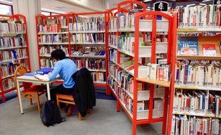 Illustration d'une bibliothèque.