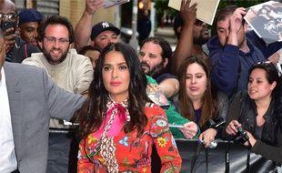 L'actrice Salma Hayek à New York.
